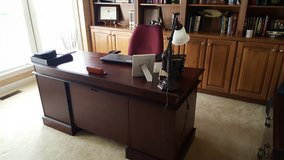 Office furniture-Desk and armoire in Fort Belvoir, Virginia