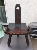 Antique Labor Chair -  Hand Carved Spanish or Italian. in Stuttgart, GE