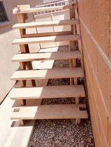 wood stair in Alamogordo, New Mexico