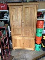 Large Solid Wood Oak TV cabinet/stand/armoire in Lockport, Illinois