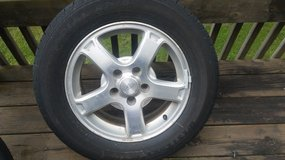 2 tires and rims in Joliet, Illinois