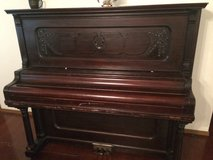 Antique upright piano in Fort Leonard Wood, Missouri