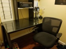 Ikea desk and chair in Camp Pendleton, California