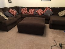 Brown Sectional Sofa with Ottoman in Columbus, Georgia