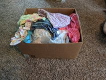 large box of baby girl clothes in Fort Leonard Wood, Missouri