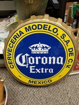 CORONA EXTRA BEER BOTTLE CAP SHAPED METAL/TIN SIGN FOR BAR OR MAN CAVE in Chicago, Illinois
