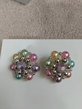Colorful Vintage ClipOn Earrings in Eglin AFB, Florida