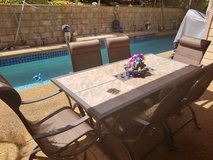 Outdoor dining table w/ 6 chairs in Schofield Barracks, Hawaii