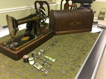 1910 Singer Red Eye sewing machine in Aurora, Illinois