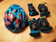 Spiderman child helmet, knee and elbow pads in Vacaville, California