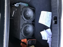 Subs and amp in Fort Lewis, Washington