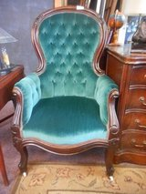 Emerald Green Victorian Chair in Elgin, Illinois