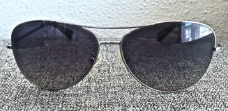 COACH Women's Black and Silver Tone Metal Frame Sunglasses/ Aviators in Okinawa, Japan