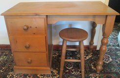 SOLID PINE DRESSING TABLE AND STOOL in Lakenheath, UK