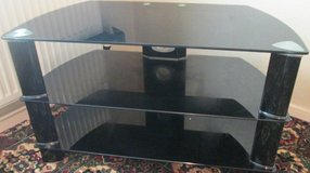 BLACK GLASS TV UNIT in Lakenheath, UK