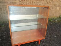 VINTAGE TEAK GLASS DISPLAY UNIT-SHABBY CHIC PROJECT ? in Lakenheath, UK