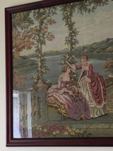 "Framed ""Relaxing at Lake Como"" Fine Italian Tapestry in Okinawa, Japan"