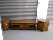 Coffee table and 2 matching hexagon end tables in Algonquin, Illinois