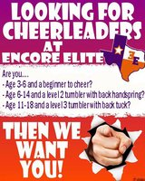 All-Star Cheerleading Teams Forming Now! in Liberty, Texas