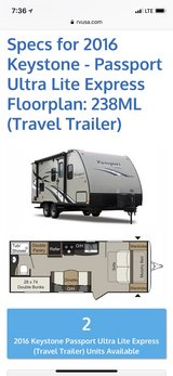 2016 Passport Ultralite 1/2 tin towable in Fort Leonard Wood, Missouri
