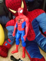 Spider-Man stuffed animal and action figure in Fort Drum, New York