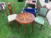 Antique Star Inlay Side Table in Plainfield, Illinois