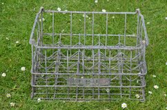 Vintage galvanised metal milk crate. MMB (milk marketing board) very sturdy in very good condition in Lakenheath, UK