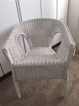 Wicker bedroom chair in Lakenheath, UK