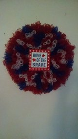 Americana Firework Wreath/ Handmade/ Beautiful in Fairfield, California