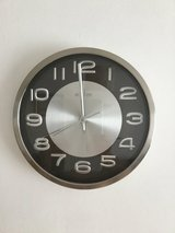 Wall clock in Lakenheath, UK