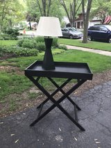 black modern end table in Plainfield, Illinois