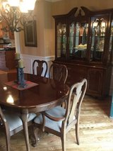 Dining room cabinet/ table and 6 chairs in Plainfield, Illinois
