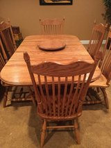 Solid Oak Table and 6 Chairs in Plainfield, Illinois