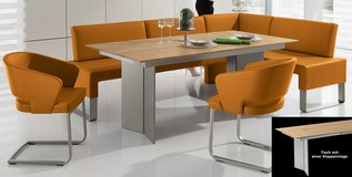 Wössner - dining table plus real leather corner bench in Ramstein, Germany