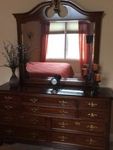 Queen size Cherry 5 piece bedroom set in Plainfield, Illinois