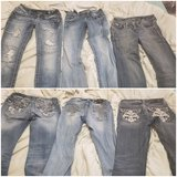 3 pairs of Jean's. First 2 are miss me size 25. The first one are capris. Last pair is L.A idol ... in Rolla, Missouri