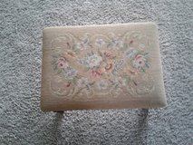 Needlepoint footstool in Sandwich, Illinois