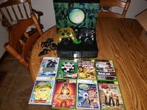 Original Xbox with two controllers and games in Bolingbrook, Illinois