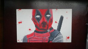 original Deadpool drawing in Camp Lejeune, North Carolina