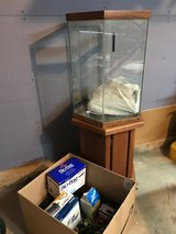 20gallon tank with stand and stuff in Bolingbrook, Illinois