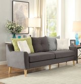 "NEW! QUALITY ""COMFY"" URBAN GREY LINEN SOFA WITH PILLOWS! PERFECT FOR SUMMER TIME! in Camp Pendleton, California"