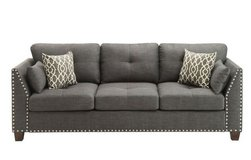 NEW! URBAN COMFY SOFA WITH LIGHT CHARCOAL LINEN FABRIC.. PILLOWS INCLUDED in Camp Pendleton, California