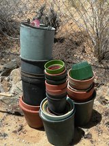 clay and ceramic planting pots in 29 Palms, California