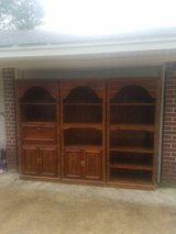 3 piece entertainment center/shelving unit with lights in Baytown, Texas