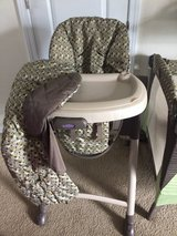 Graco Foldable High Chair and Portable Pack N Play Matching Combo in Camp Lejeune, North Carolina