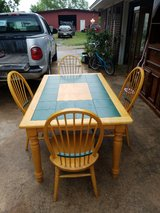 SOLID WOOD-----Dining table with 4 chairs in Baytown, Texas