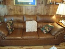 Queen  leather sofa bed in Conroe, Texas