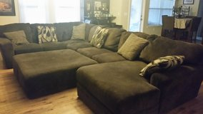 3 Piece Sectional Couch with ottoman in Eglin AFB, Florida