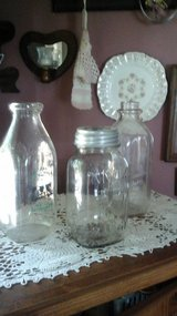 Antique Milk Bottles and Mason Jar in Glendale Heights, Illinois