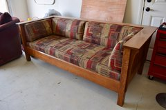 Mission Style Sofa - Solid Oak in 29 Palms, California